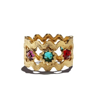 vintage Yves Saint Laurent Gilded cuff designed by Robert Goossens, c. 1980
