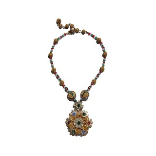 Vintage Miriam Haskell beaded necklace designed by Frank Hess
