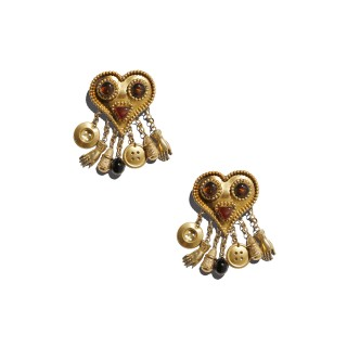 Vintage Isabel Canovas charm earrings, c.1990