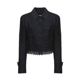 Chanel linen and lace jacket, 2000s