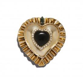 Vintage Gianni Versace heart pin, c. 1978
