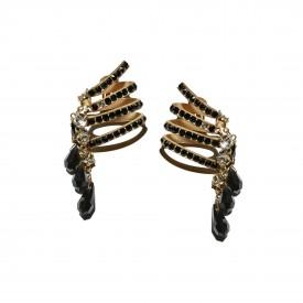 Vintage Gianni Versace dangling earrings by Ugo Correani, c. 1980
