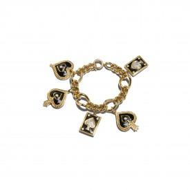 Vintage Ugo Correani charm bracelet, c.1980