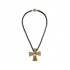 Vintage Ugo Correani cross necklace, c. 1980