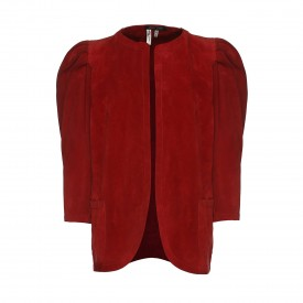 Jean Muir Red Suede Jacket, 1980s