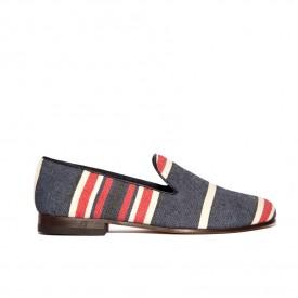 Positano striped slippers