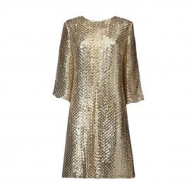 Vintage Short gold sequined dress, 1960s