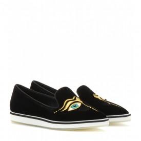Nicholas Kirkwood velvet slippers