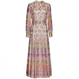 Geometric lurex dress, 1970s