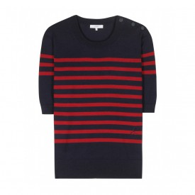 Erdem red and navy stripe sweater