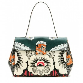 valentino printed leather tote
