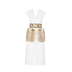marni leather and fur vest