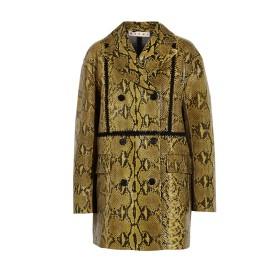 Marni glossed python coat