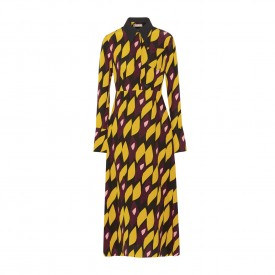 Marni printed silk crepe dress