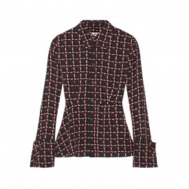 marni printed crepe top