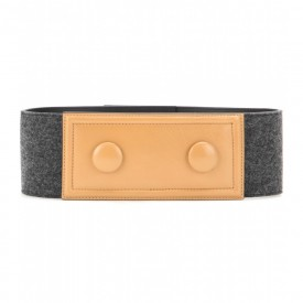 Marni felt and leather belt