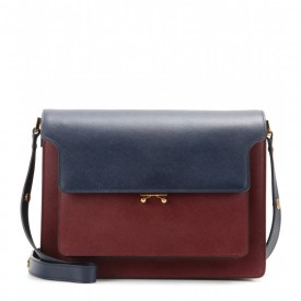 Marni leather trunk tote bag
