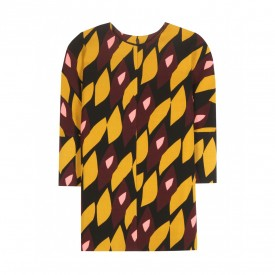 marni printed wool top