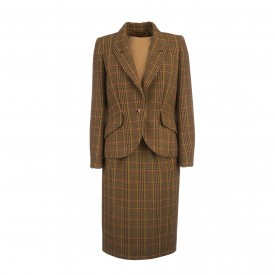 Hermès plaid wool 3-piece suit, 1970s