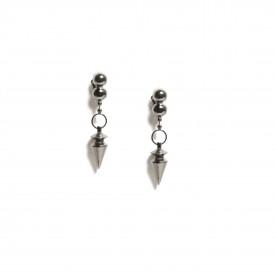 Karl Lagerfeld spike earrings, 1980s