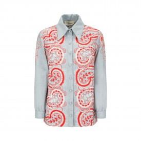 Vintage Paisley embroidered shirt, 1970s