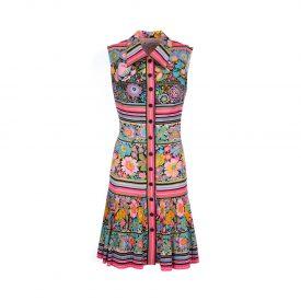 Floral shirt dress, 1960s | LaDoubleJ 1