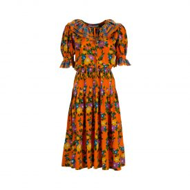 YSL floral dress, 1970s | LaDoubleJ 1