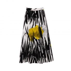 Printed velvet skirt, 1970s | 1