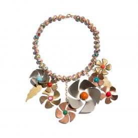 Missoni flower necklace, 1990s | La DoubleJ 1