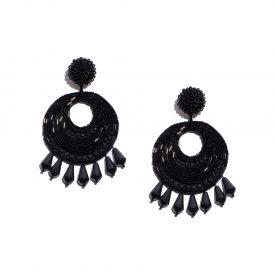 Kenneth Jay Lane beaded hoop drop earrings, 2000s | La DoubleJ 3