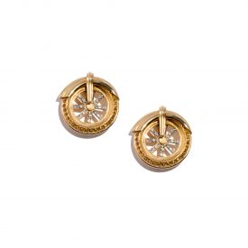 Gianni Versace motorcycle wheel earrings by Ugo Correani, 1990s | La DoubleJ 1